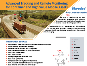 T63 GPS Container Tracker